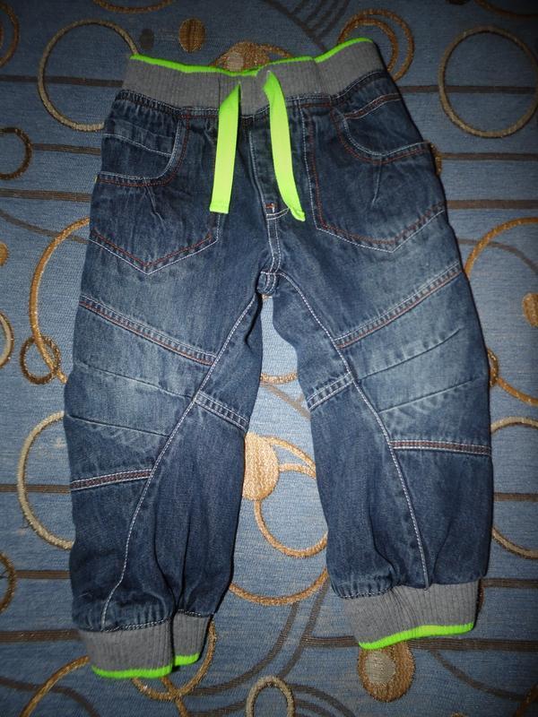 Крутые джогеры на тканевой подкладке george 2-3 года