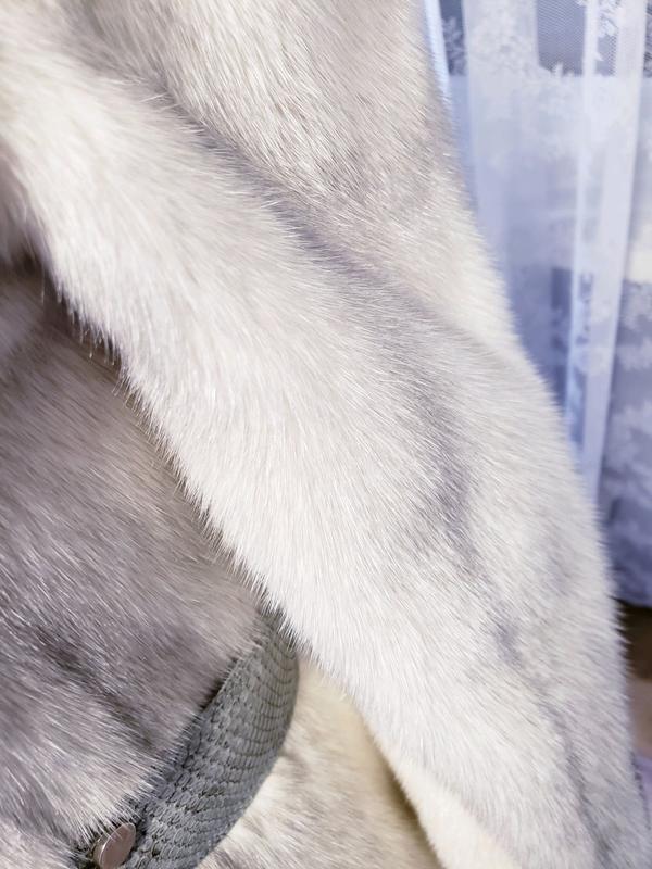 Шуба норкова Kopenhagen fur с кожей питона норка соболь куница ши - Фото 8