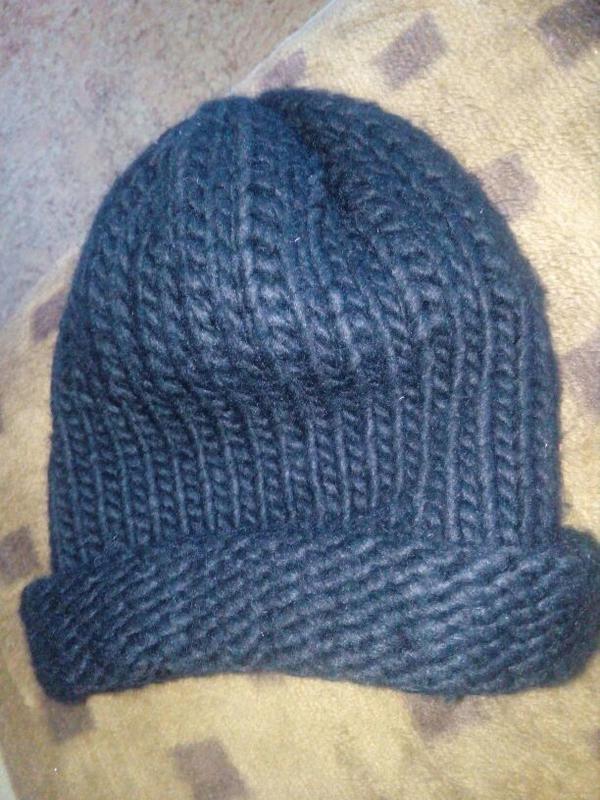 Новая шапка крупная вязка