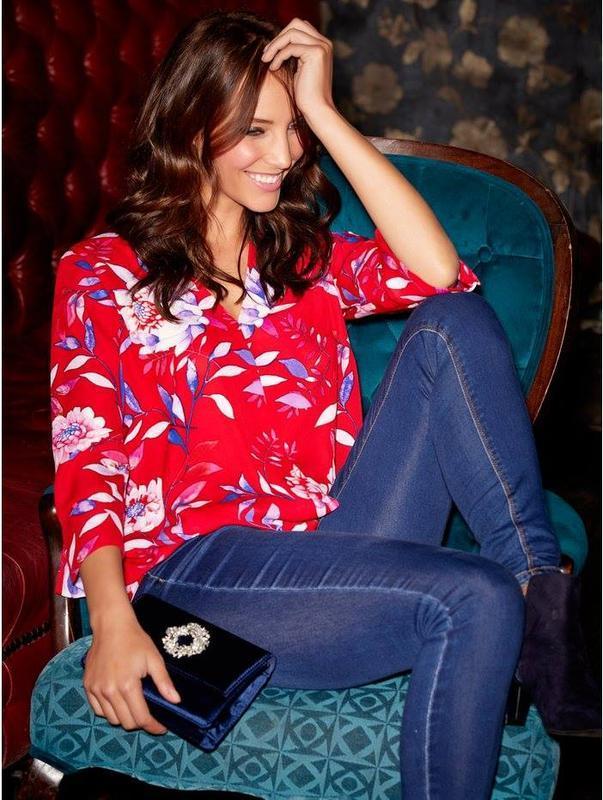 Блуза с цветочным принтом m&co