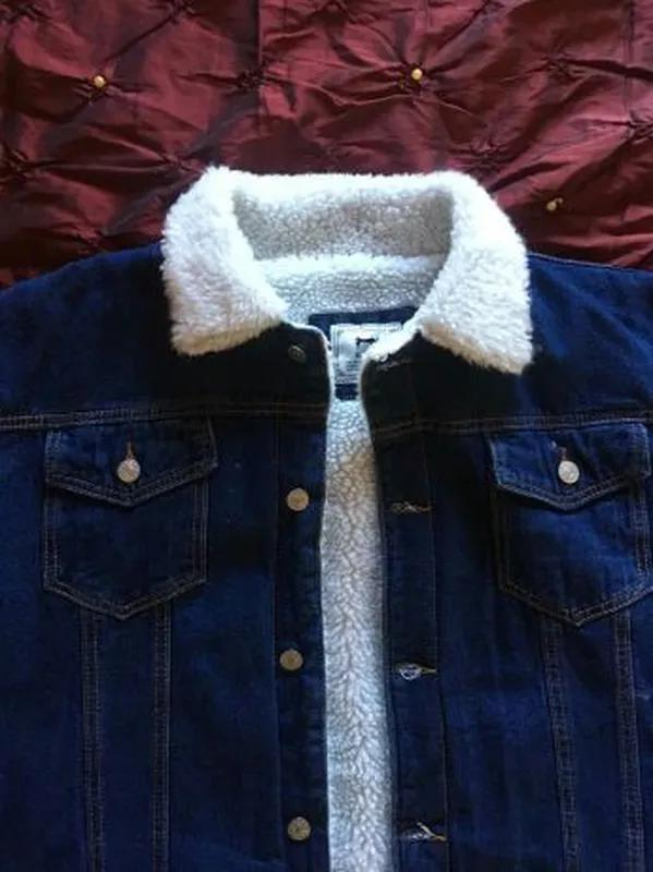 Джинсовая куртка на меху.
