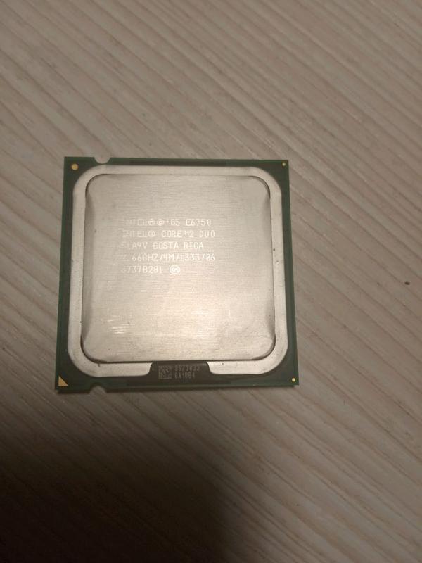 Процессор Intel core 2 duo 2,66 GHZ E6750