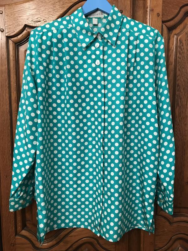 Шелковая рубашка в горошек peter hahn