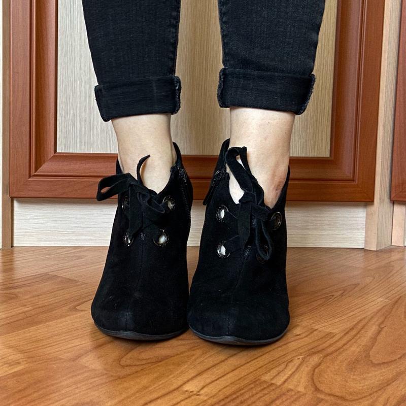 Ботинки, туфли на шнуровке, полуботинки из натуральной замши i...