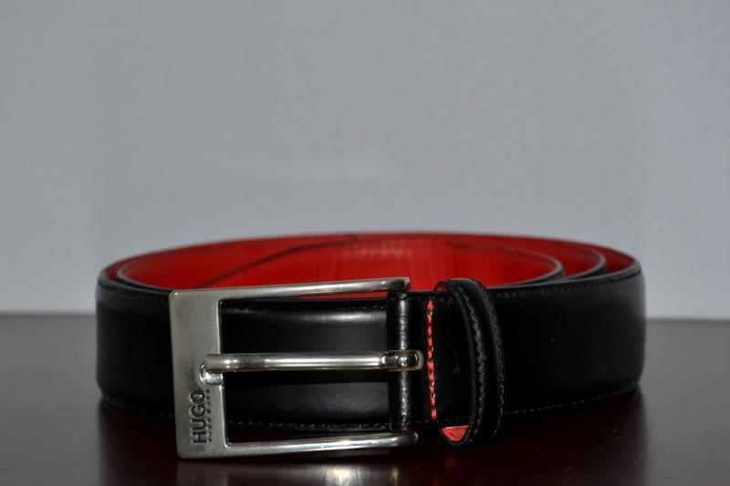 Ремень hugo boss leather belt