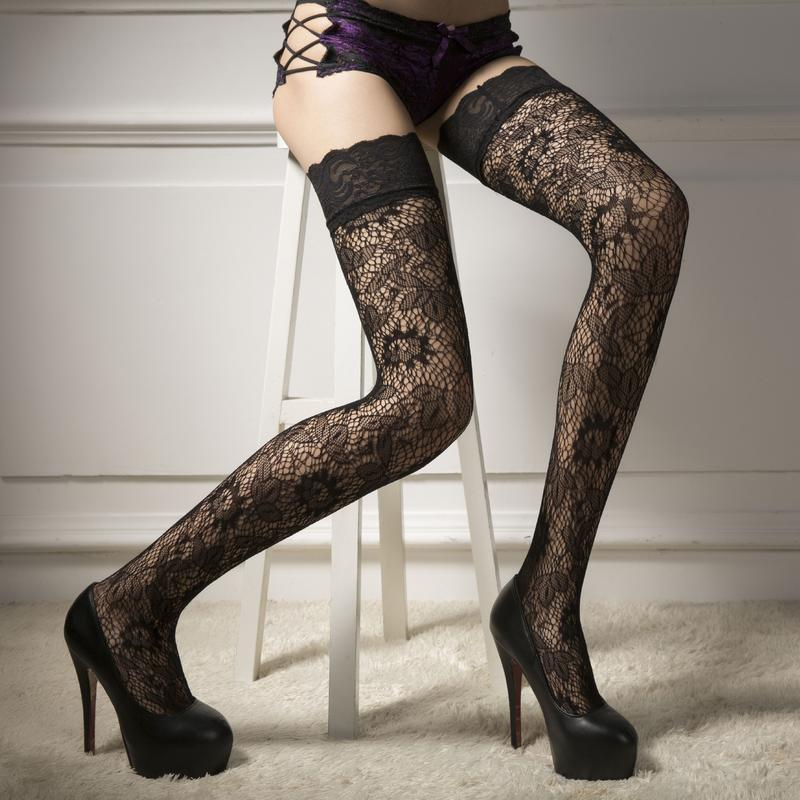5-36 чулки с узором сексуальное белье эротическое белье черные...
