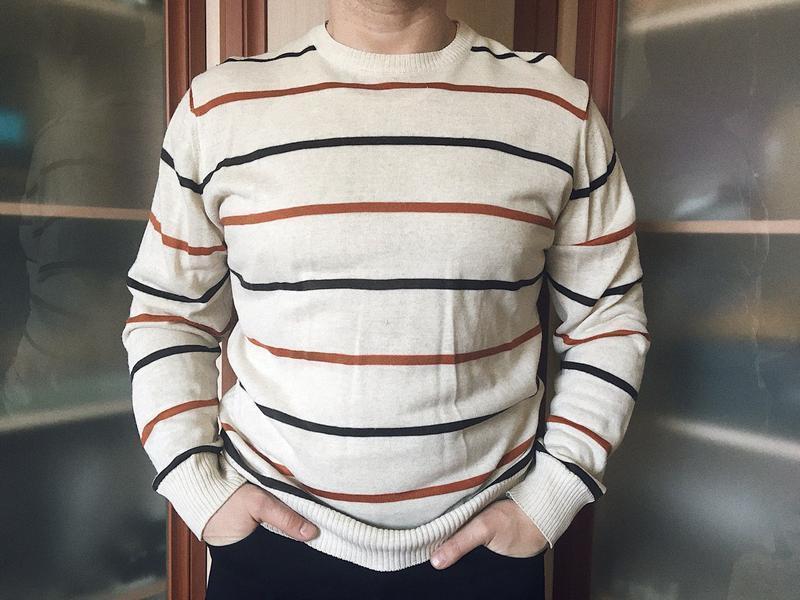 Мужской полосатый свитер, кофта, пуловер, джемпер от perry mey...