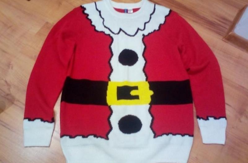 Новогодний свитер свитшот взрослый санта клаус🎅
