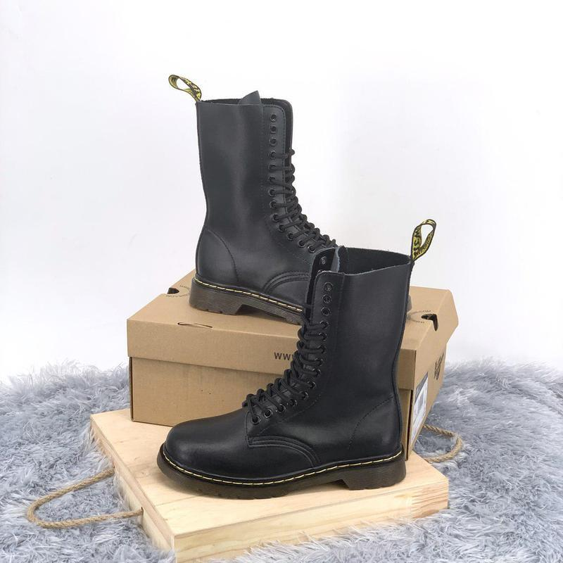 Женские кожаные зимние ботинки/ сапоги dr. martens 1914 black ...