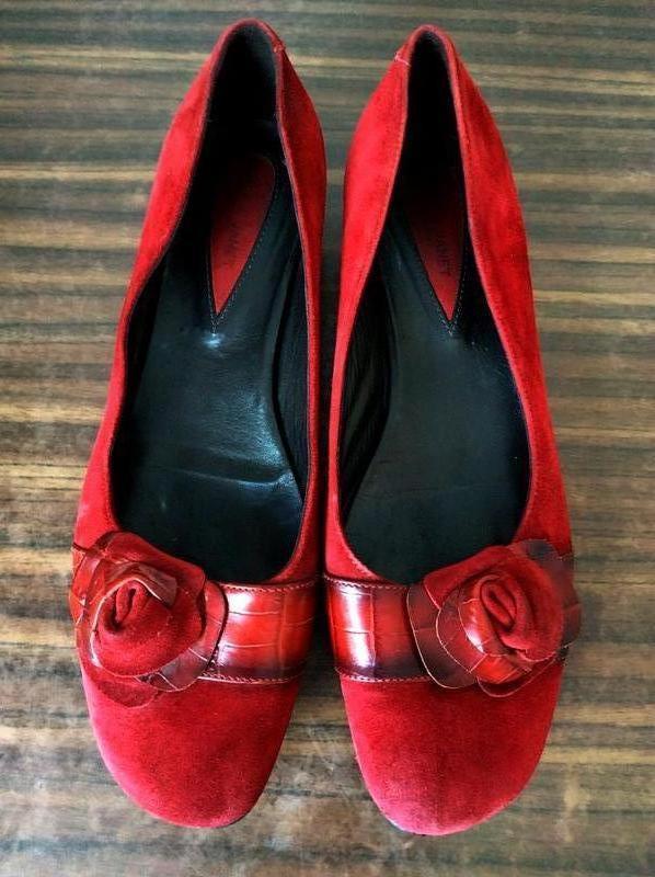 Замшевые туфли, балетки