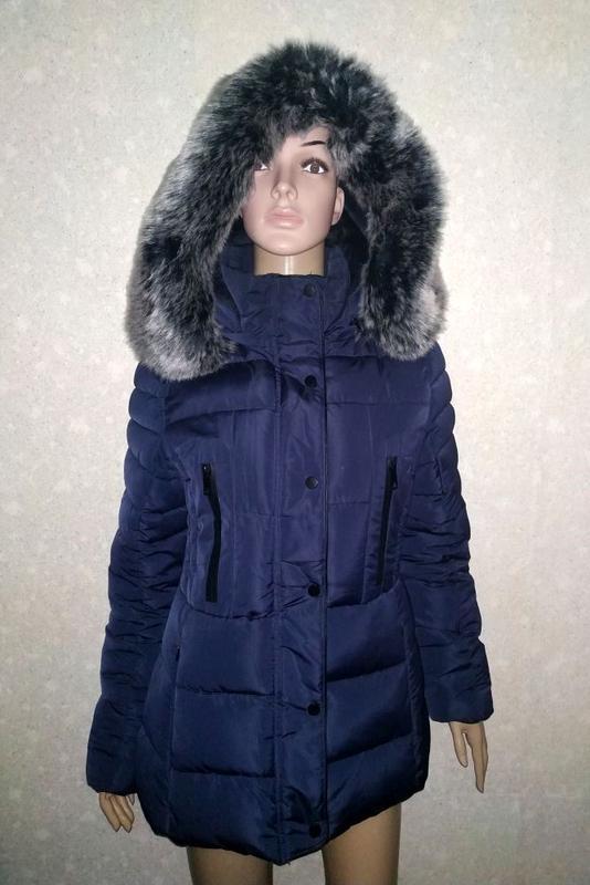 Теплая куртка, пуховик, с мехом, зимняя