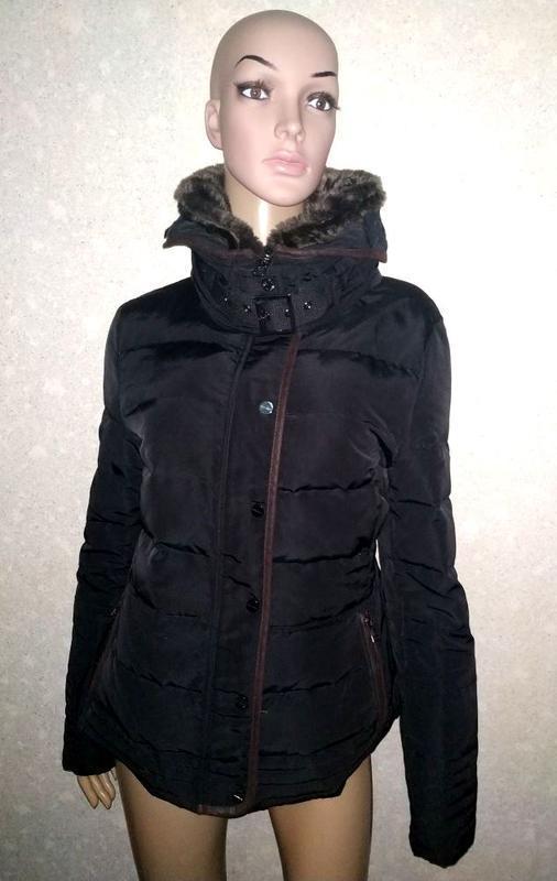 Пуховик, куртка, с мехом, зимняя