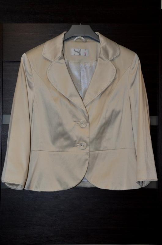 Нежный атласный пиджак, жакет