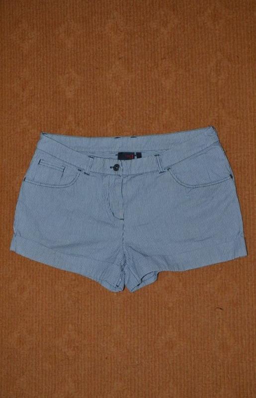 Шорты джинсовые, в полосочку