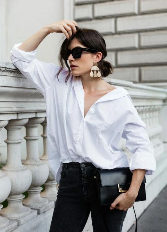 Базовая белая рубашка, большой размер
