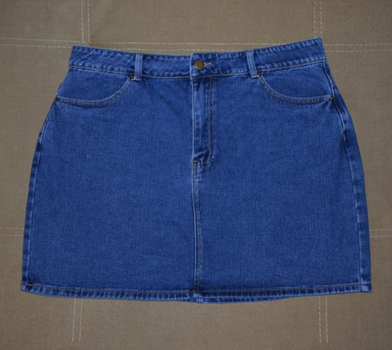 Базовая джинсовая юбка, очень большой размер