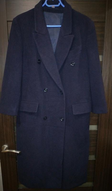 Базовое пальто шерстяное, оверсайз