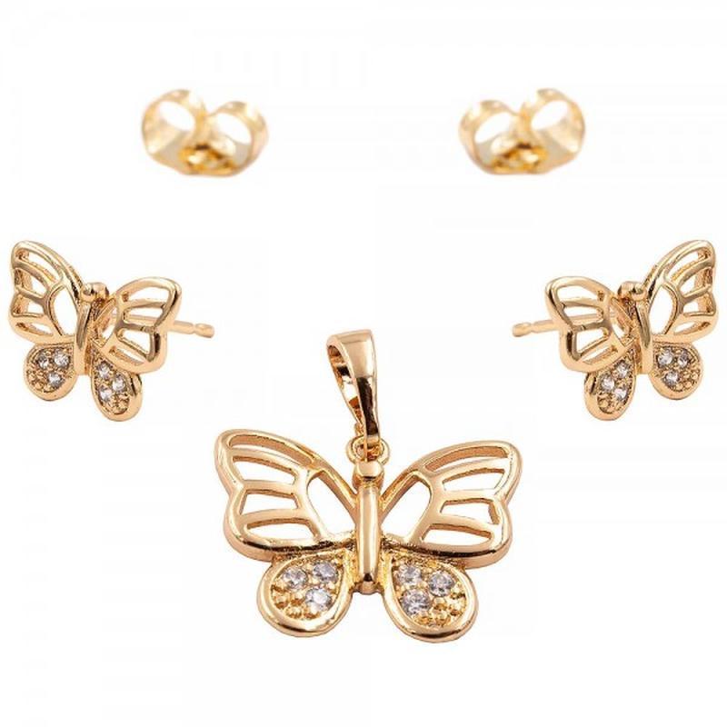 Набор бабочки, гвоздики и подвеска