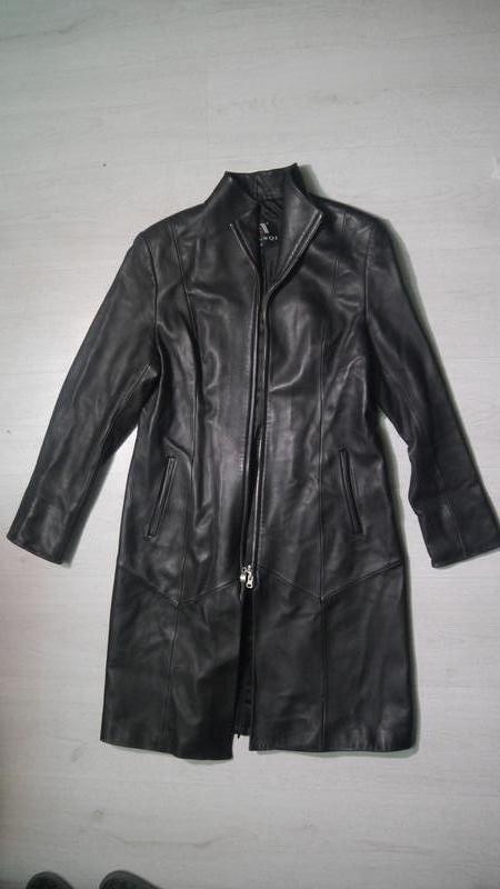 Винтажный кожаный плащ от: yiluqi + подарок