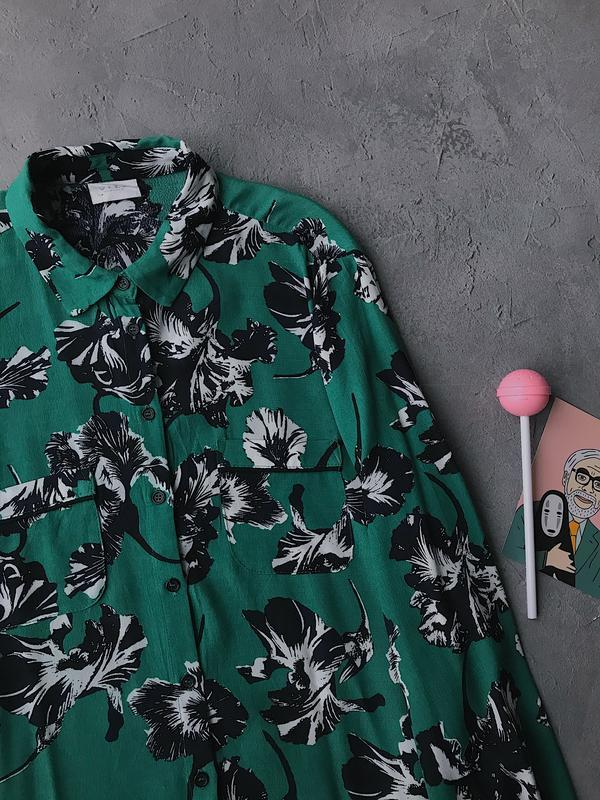 Скидки - 50% !!! блуза рубашка с карманами темно зелёная vila ...