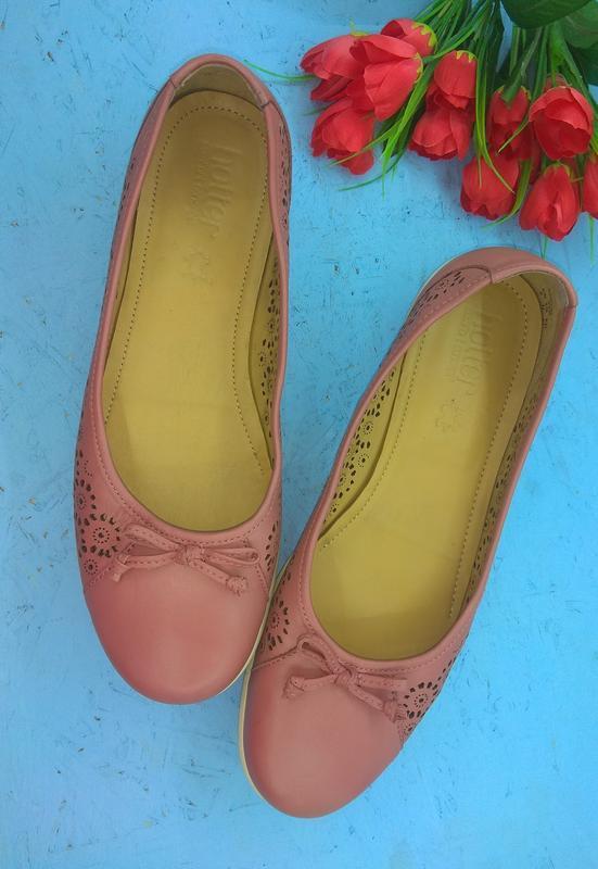 Кожаные туфли балетки hotter р 42-43 англия отлич сост