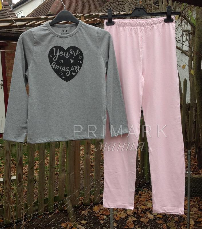 Трикотажная пижама для девочки (128 см) primark