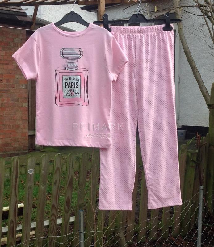 Трикотажная пижама для девочки (128, 134 см) primark