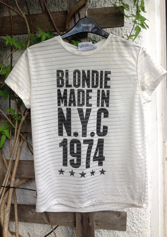 """Футболка  """"blondie"""" ( 38 евр) primark"""