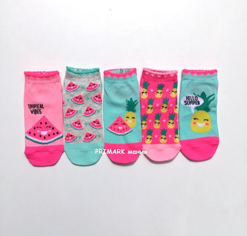 Низкие носки для девочки primark