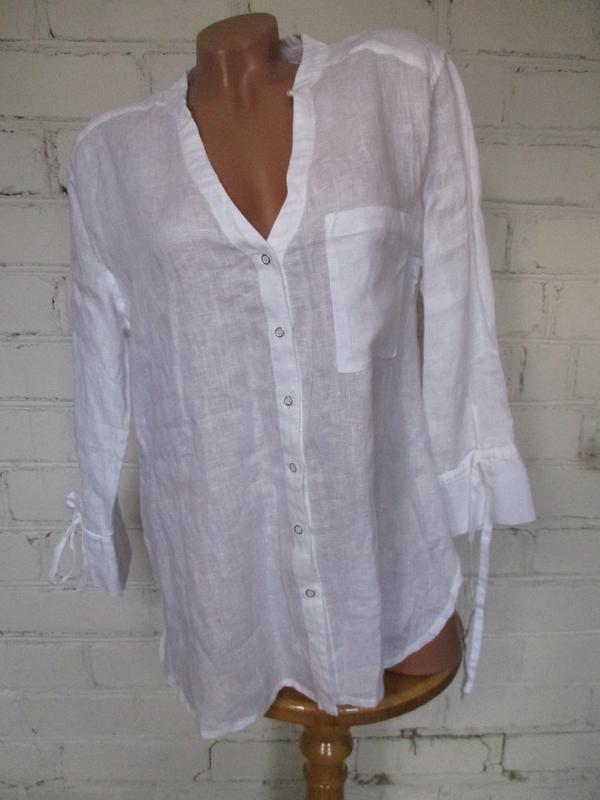 Рубашка белая льняная