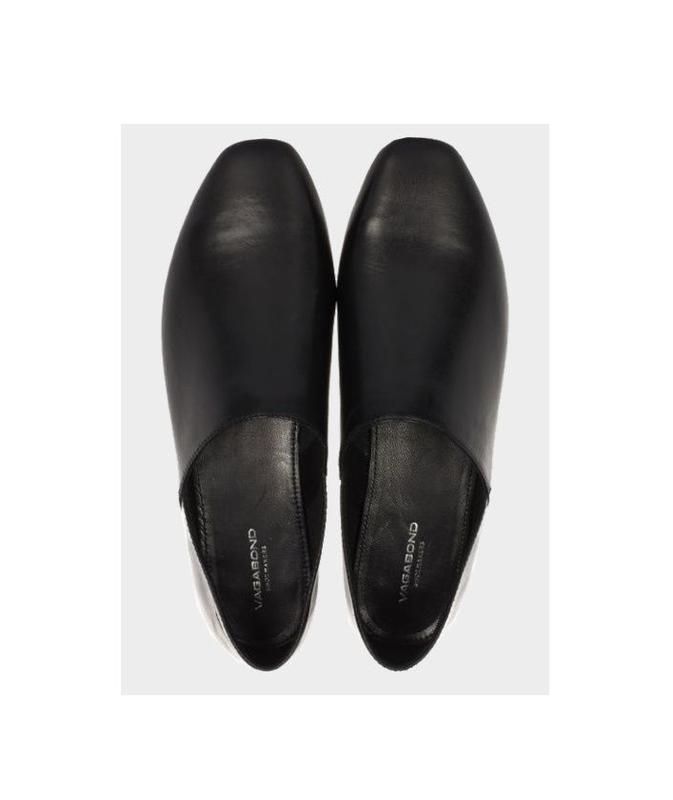 Черные кожаные балетки   vagabond