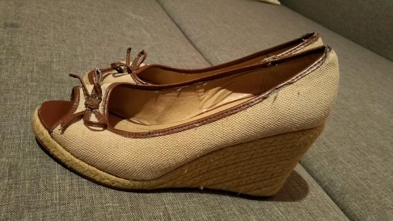 Бежевые туфли р. 38