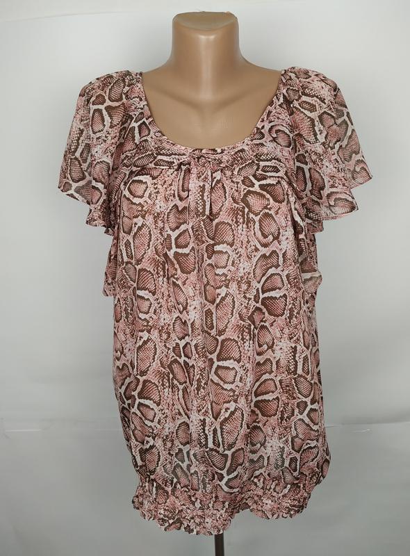 Блуза красивая легкая питоновой расцветки marisota uk 16/44/xl