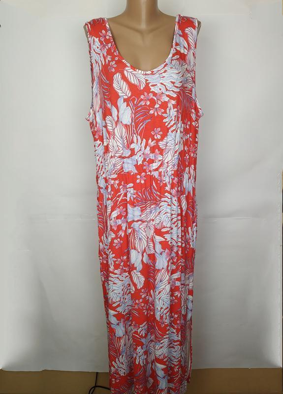 Платье длинное стильное трикотажное модное george uk 16/44/xl