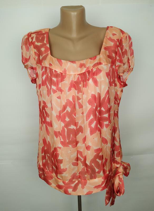 Блуза шелковая новая привлекательная monsoon uk 14/42/l