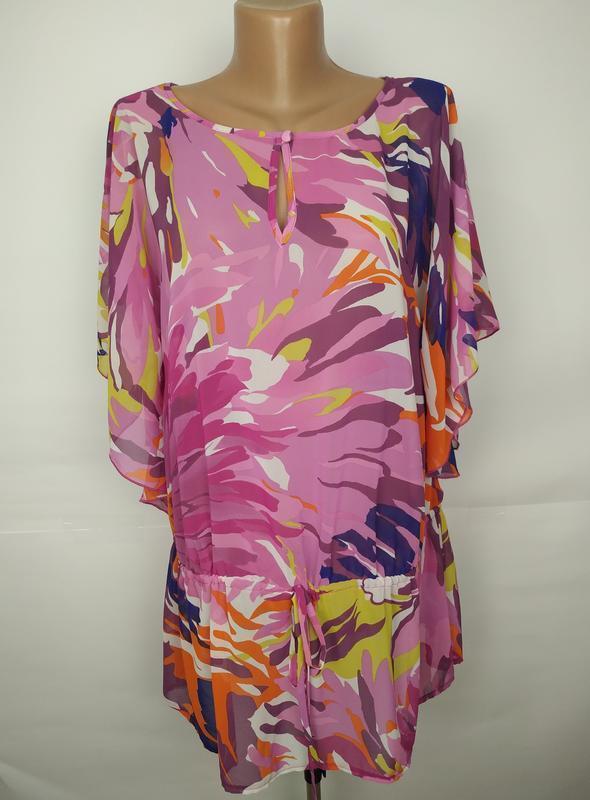 Блуза красивая легкая цветочная оригинал laura ashley uk 14/42/l