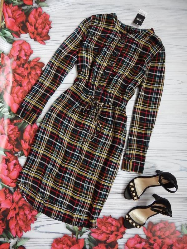 🌿бомбезное,  стильное платье, рубашка в клетку от next. размер...