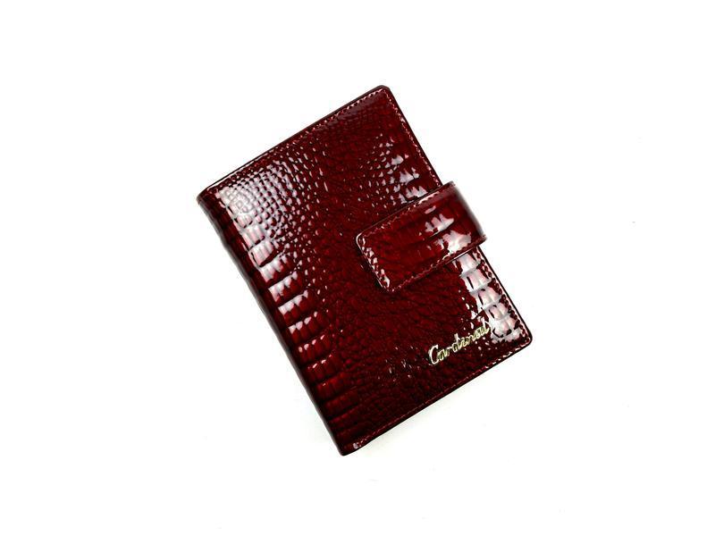 Женский кожаный кошелек cardinal небольшой на кнопке
