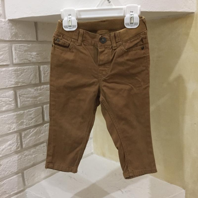 Коричневые джинсы брюки 6-9 мес на рост 74 см