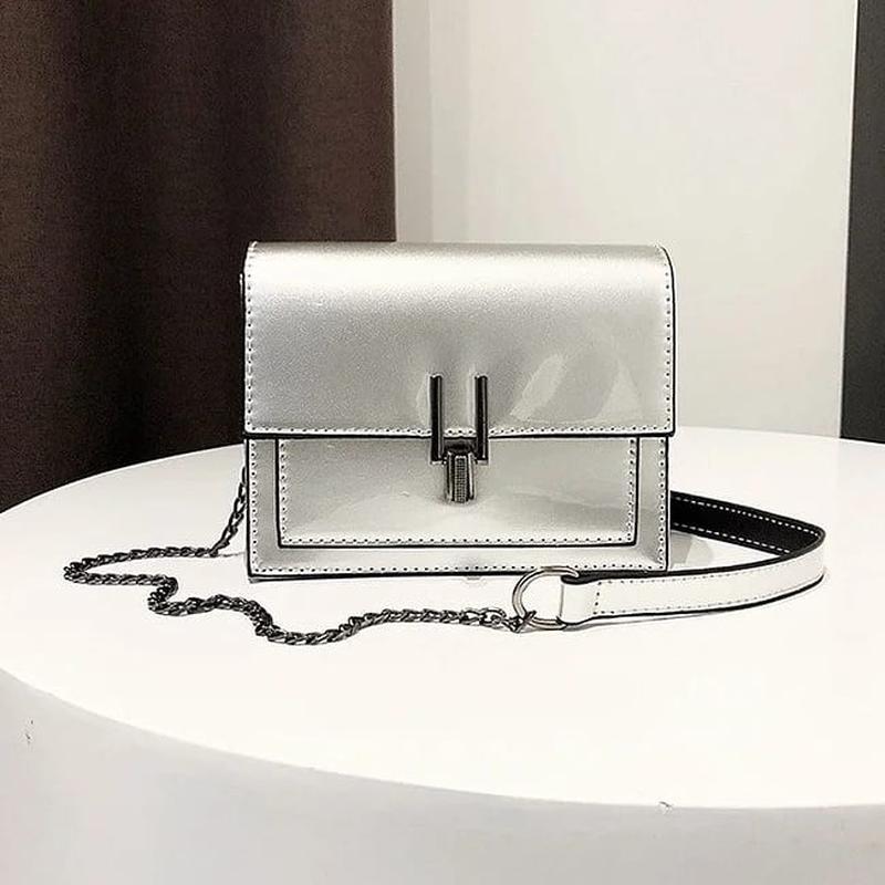 Модная женская лаковая мини сумочка