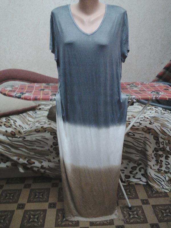 Платье в пол большого размера, р 3xl