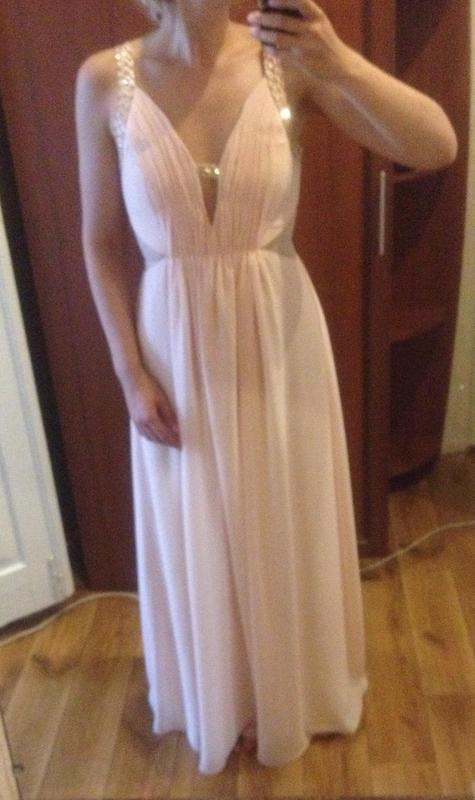 Идеальное нюдовое платье в пол koo-ture