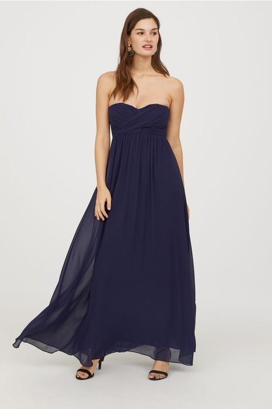 Новое красивое нарядное длинное макси платье h&m. размер 32