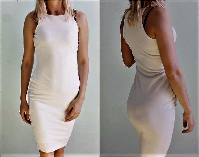 Фактурное💣 👑 облегающее белое платье