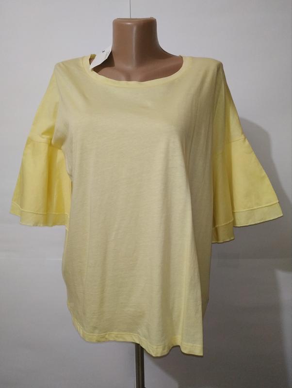 Футболка блуза новая желтая хлопковая next uk 14/42/l