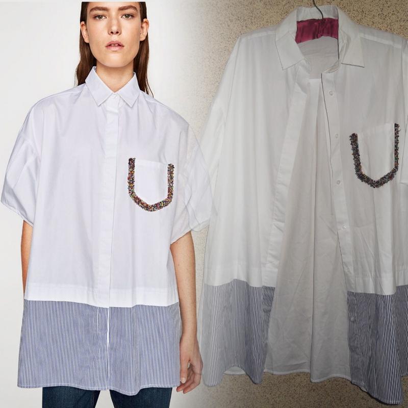 Платье рубашка из хлопка zara