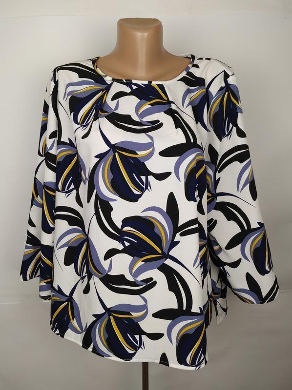 Блуза красивенная в принт большого размера marks&specner uk 22...