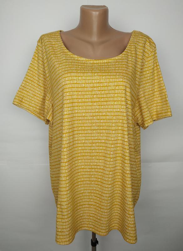 Блуза футболка натуральная хлопковая большой размер uk 24/52/5xl