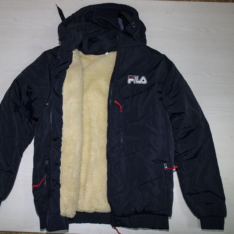Зимняя куртка мужская фила на овчине под резинку 50-58р