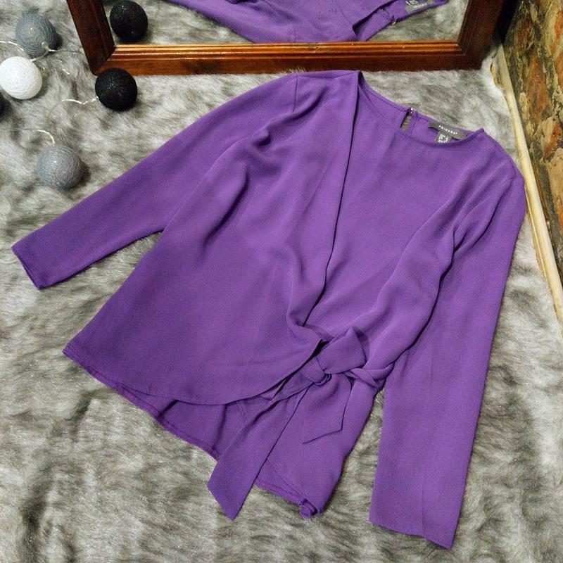 Блуза кофточка с драпировкой на запах primark